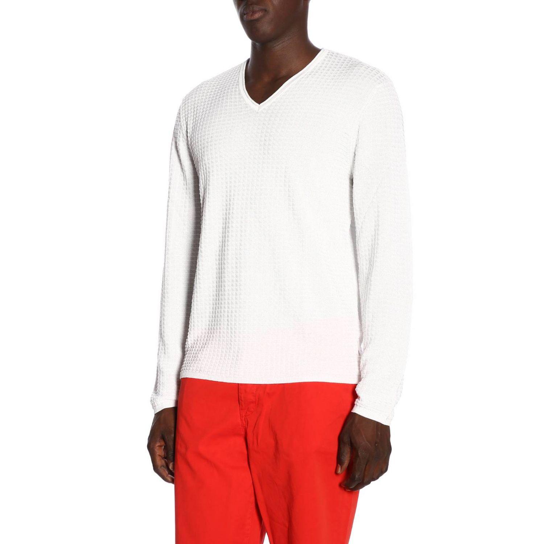 Pull homme Armani Exchange blanc 2