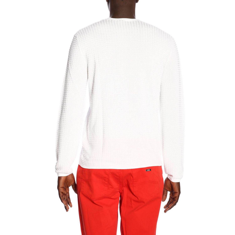 Pull homme Armani Exchange blanc 3