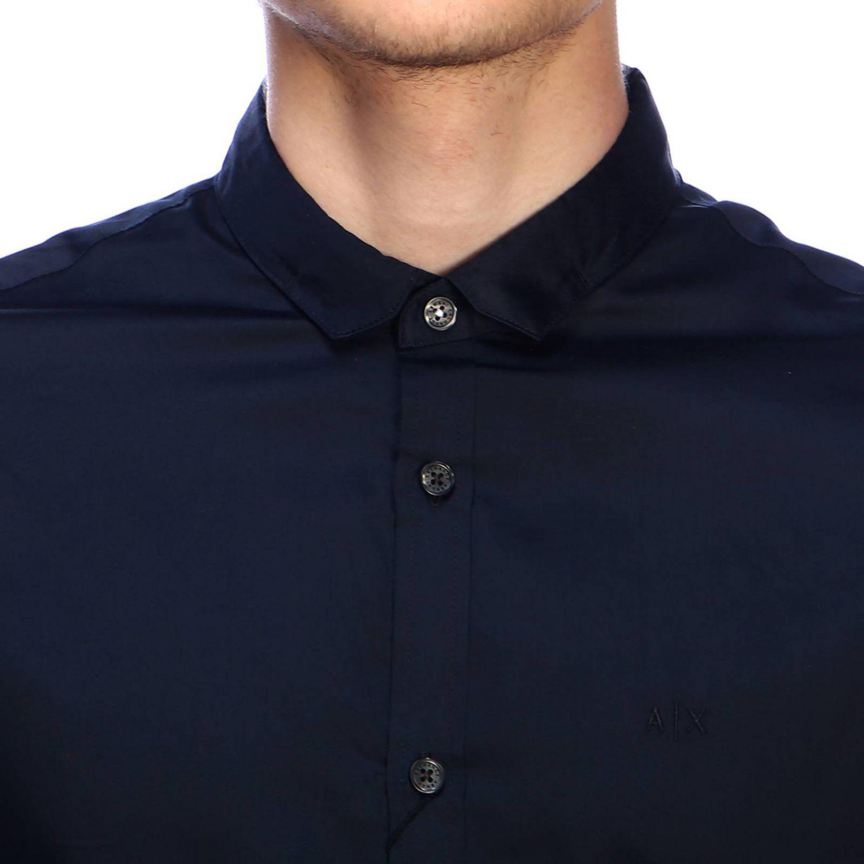 Chemise homme Armani Exchange bleu marine 4