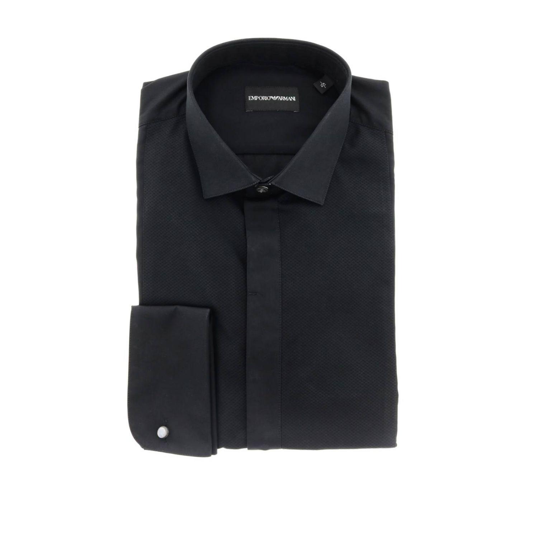 Hemd herren Emporio Armani schwarz 1