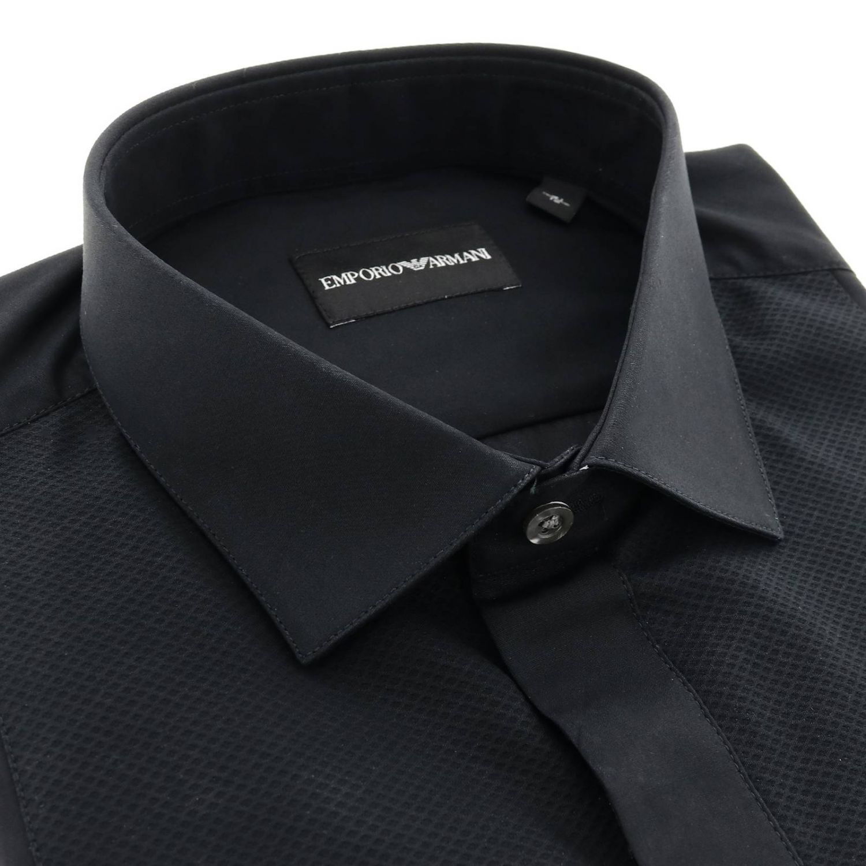 Hemd herren Emporio Armani schwarz 2