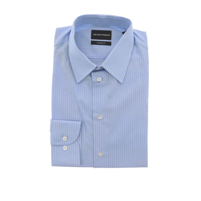 Рубашка Мужское Emporio Armani голубой 1