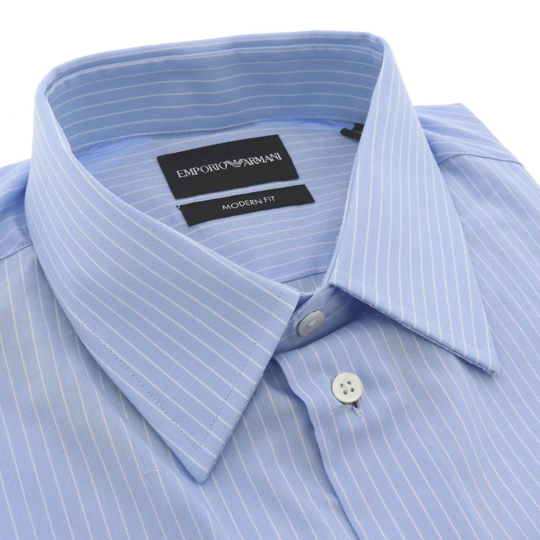 Рубашка Мужское Emporio Armani голубой 2