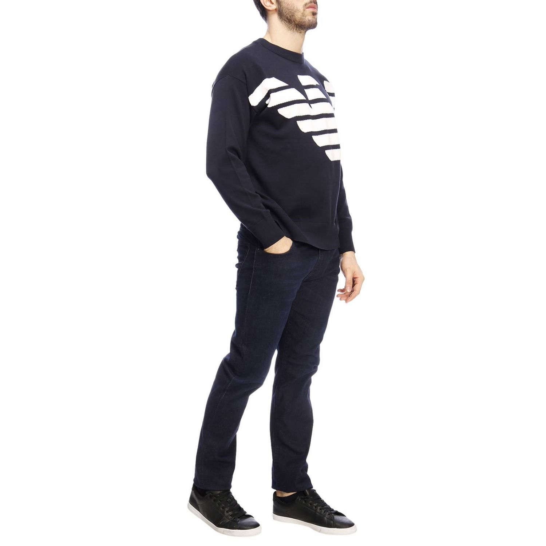 Pullover herren Emporio Armani blau 4