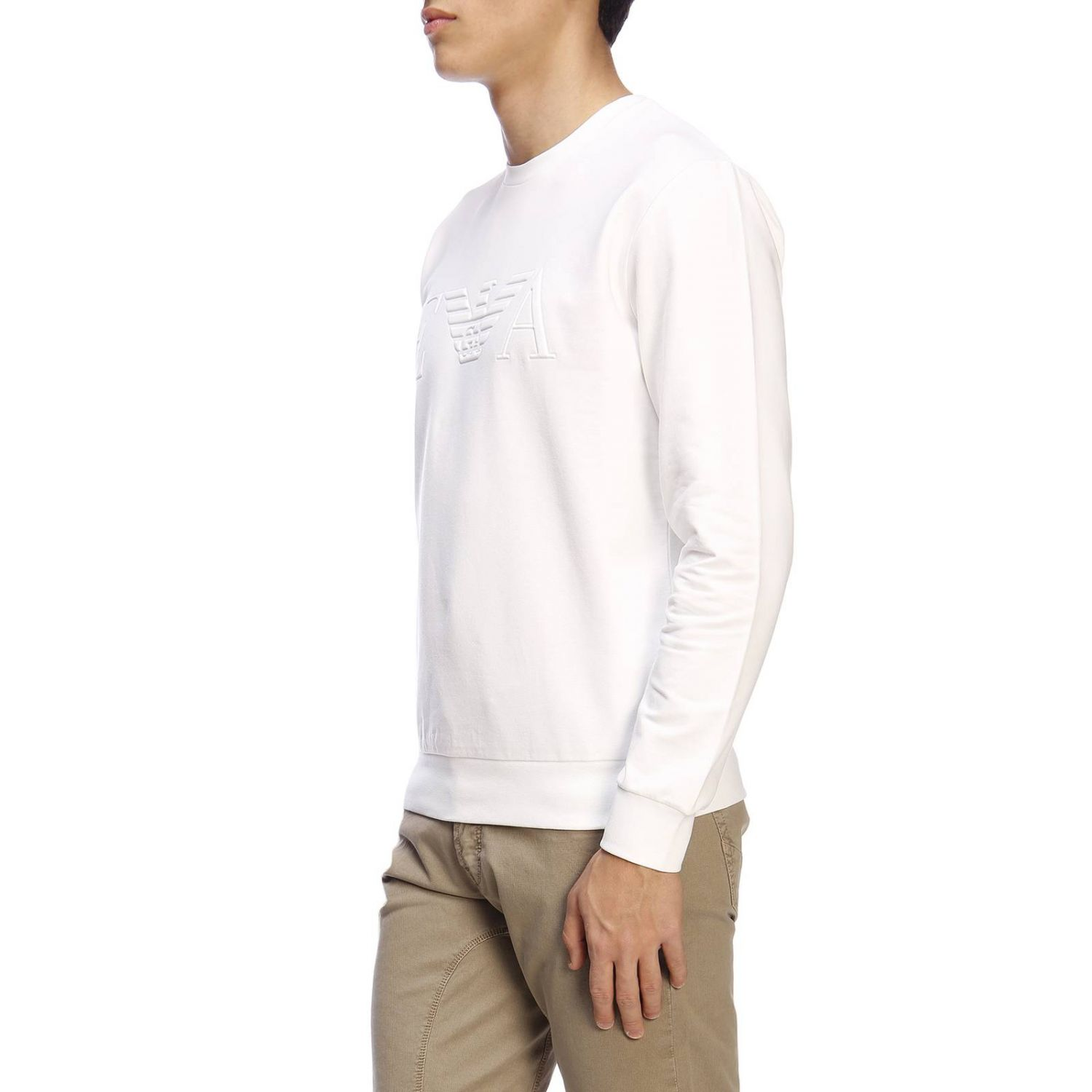 Sweater men Emporio Armani white 2