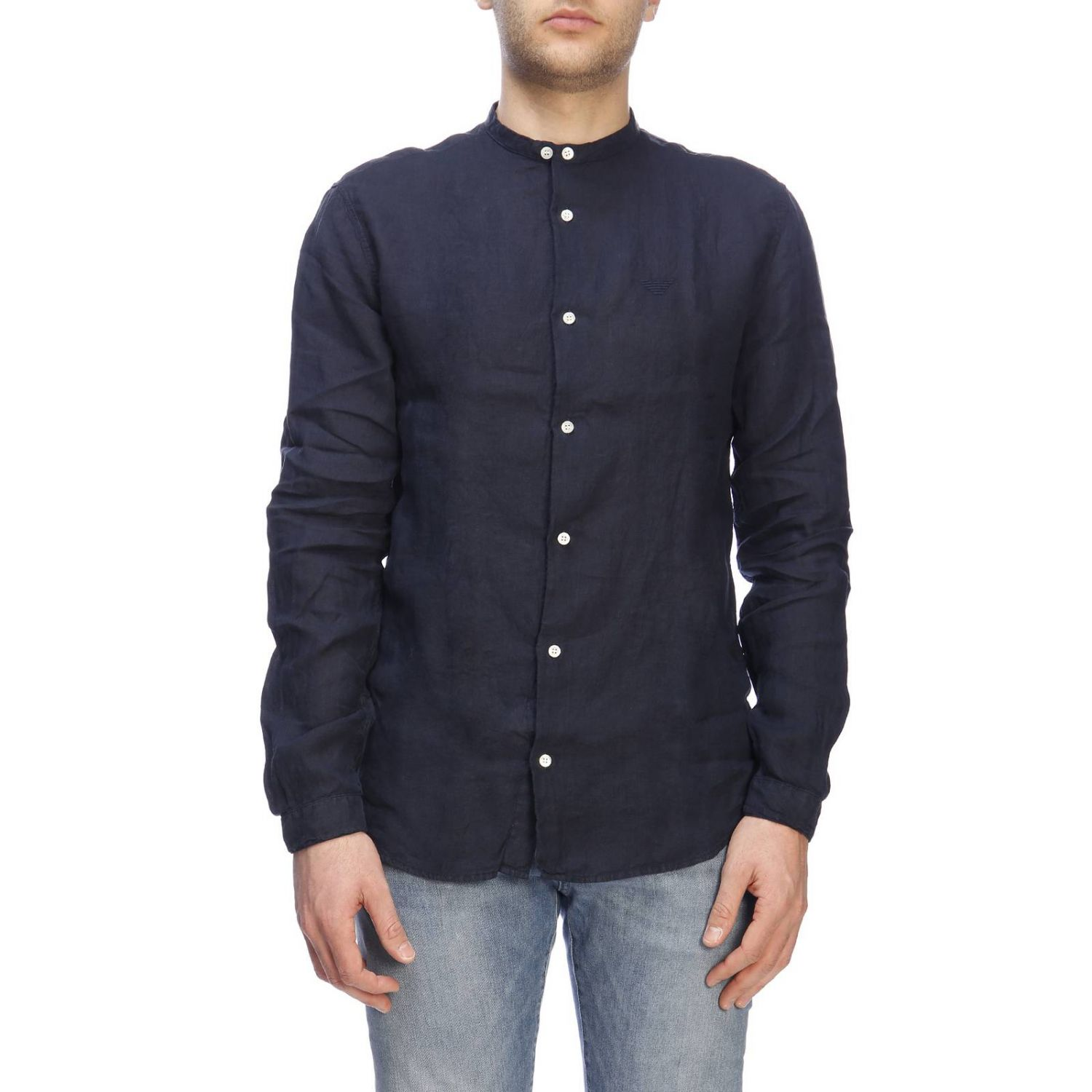 Shirt men Emporio Armani blue 1