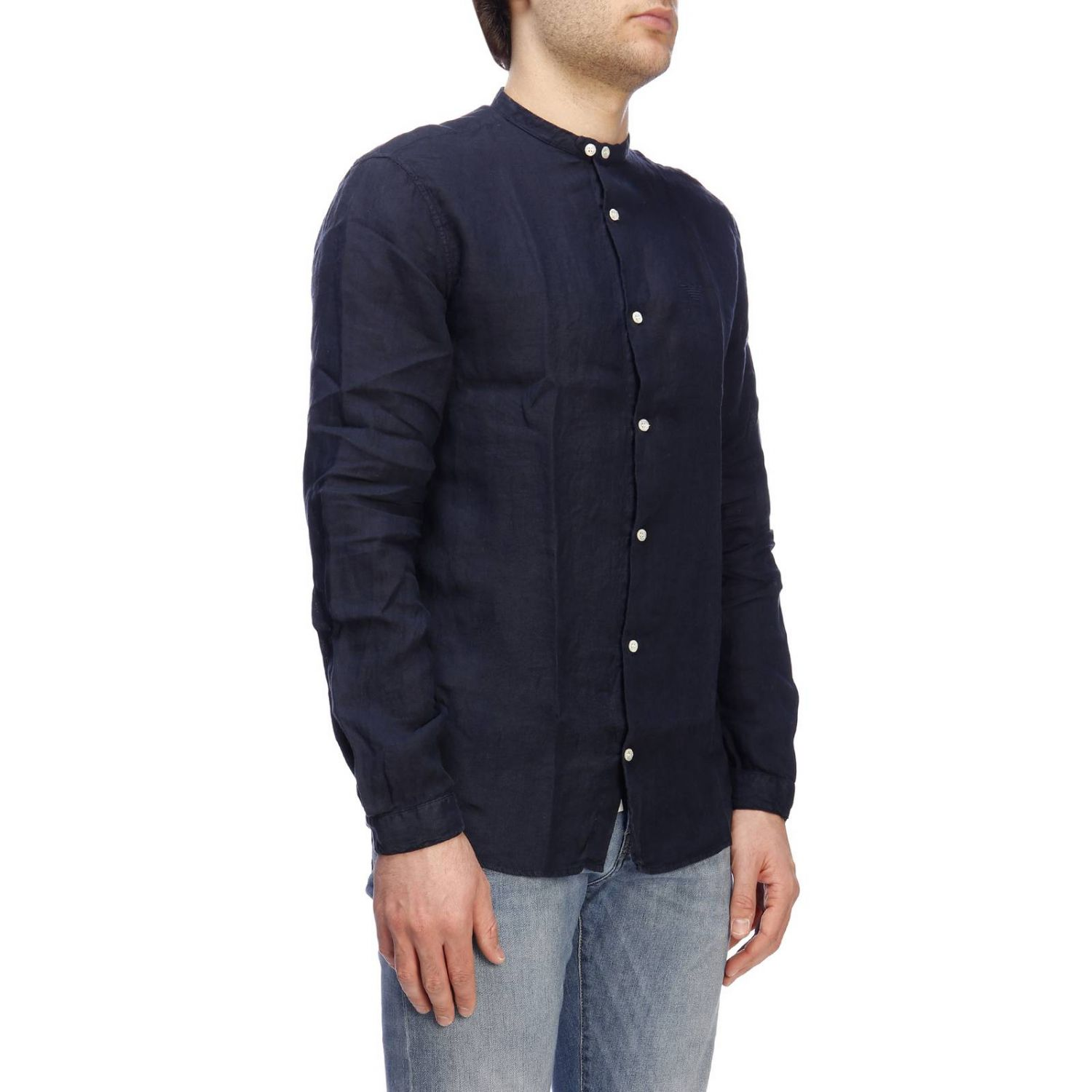 Shirt men Emporio Armani blue 2