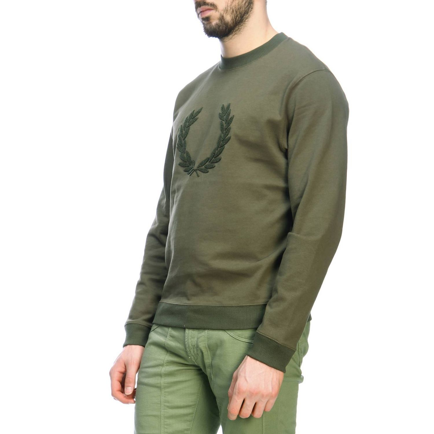 Sweater men Fred Perry military 2