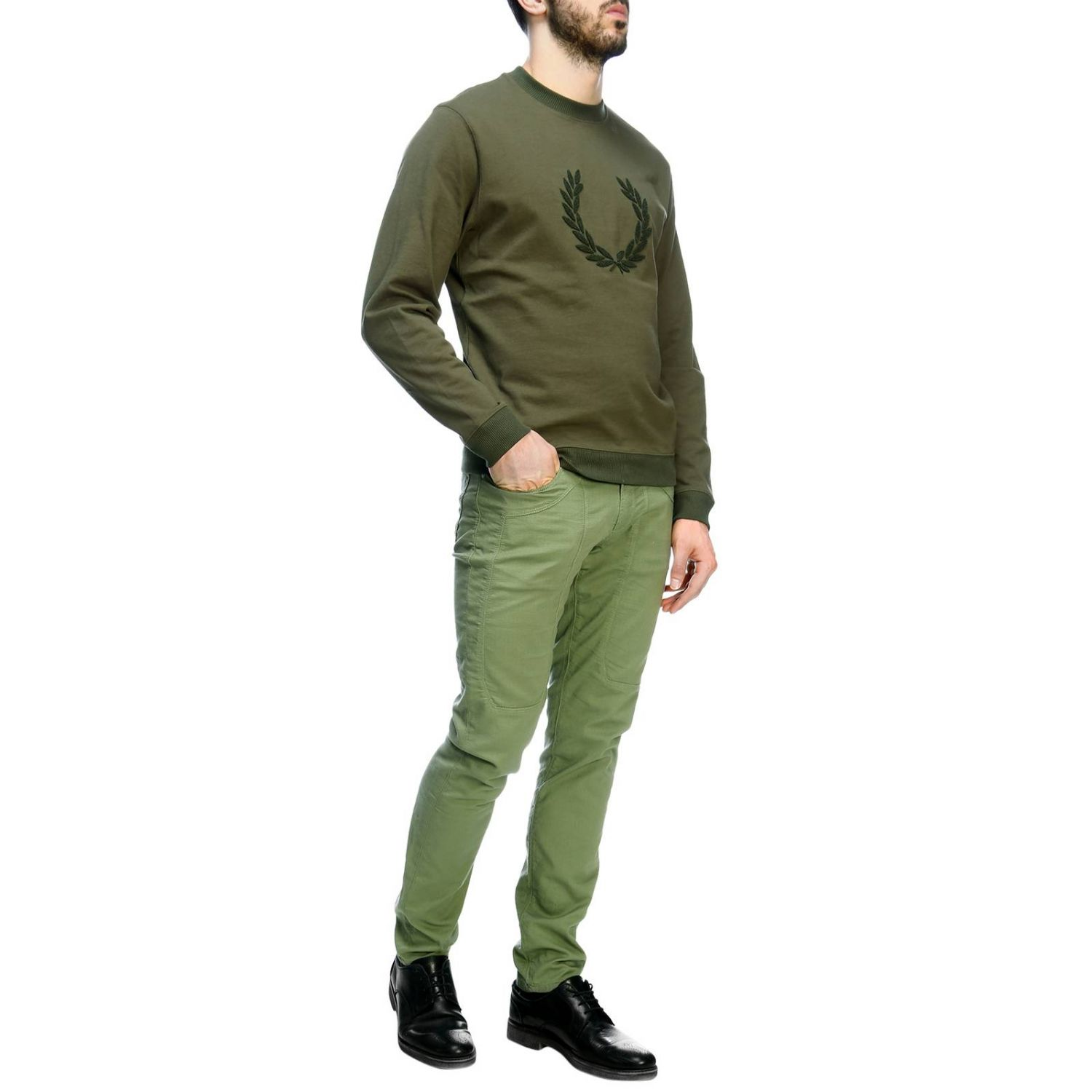 Sweater men Fred Perry military 4