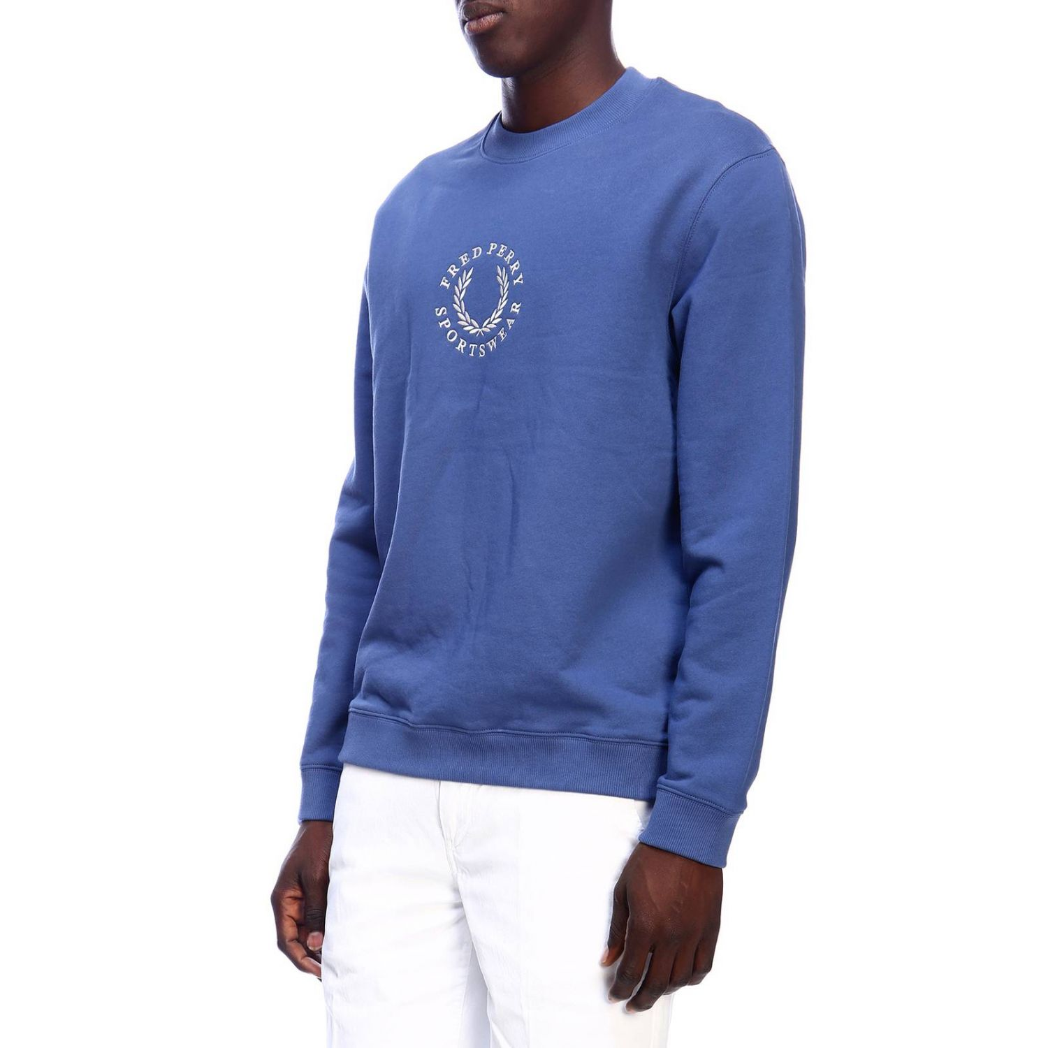 Jersey hombre Fred Perry azul claro 2