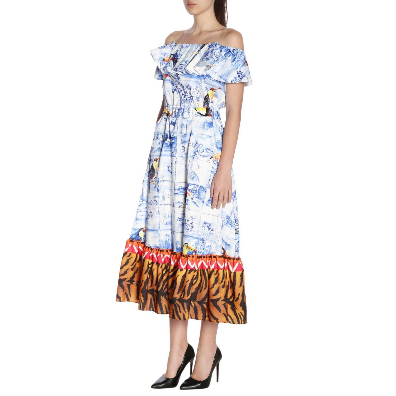 Dress Stella Jean: Dress women Stella Jean gnawed blue 2