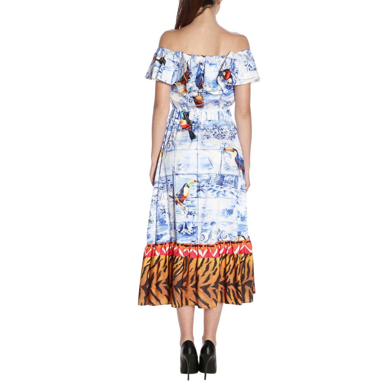 Dress Stella Jean: Dress women Stella Jean gnawed blue 3