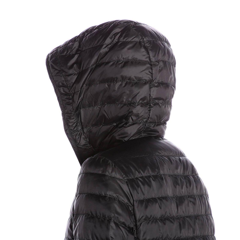 Piumino Etres in tessuto trapuntato impermeabile con cappuccio nero 4