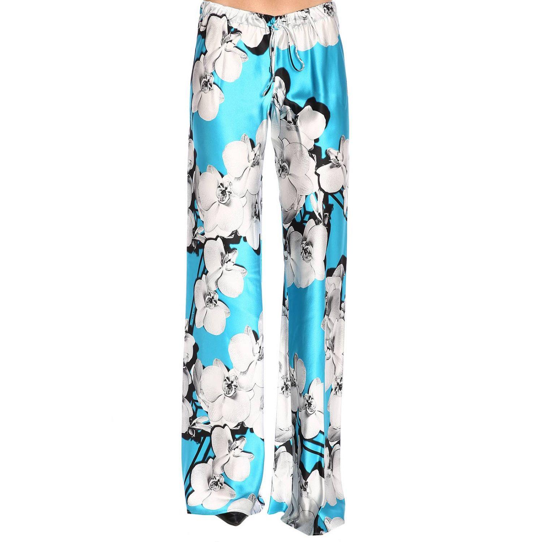 Pantalon femme Roberto Cavalli bleu azur 1