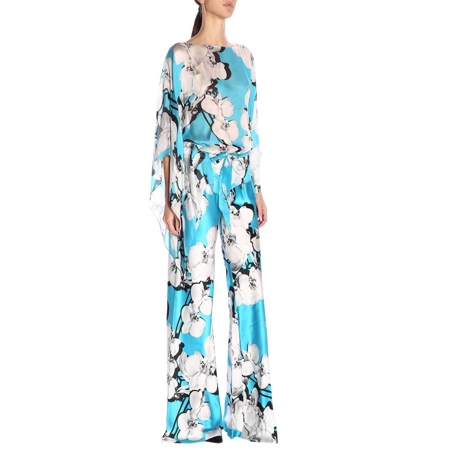 Pantalon femme Roberto Cavalli bleu azur 4
