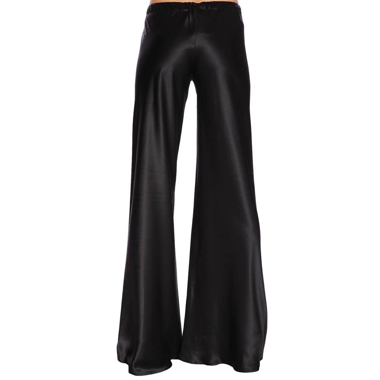 Pantalone Roberto Cavalli ampio in seta con coulisse nero 3