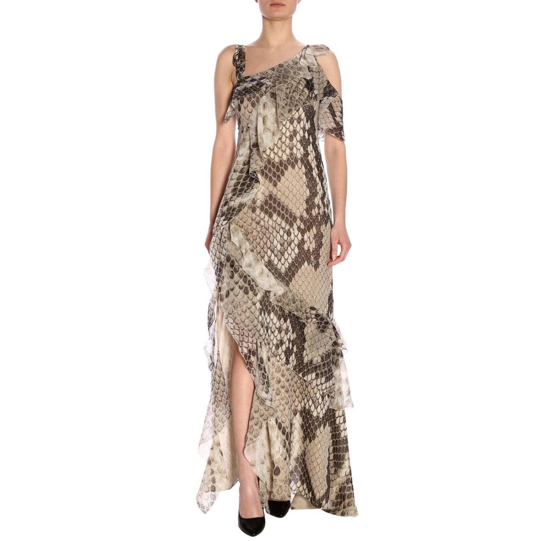 Dress women Roberto Cavalli beige 1