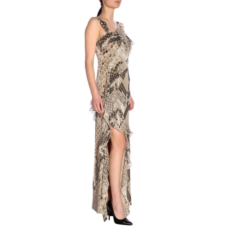 Dress women Roberto Cavalli beige 2