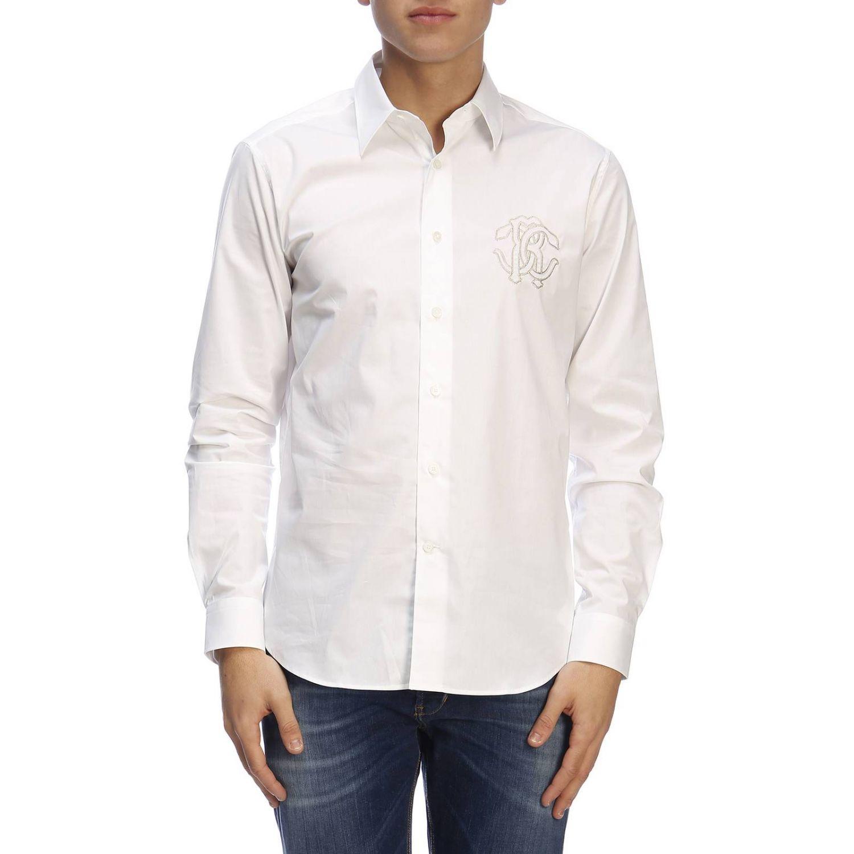 衬衫 男士 Roberto Cavalli 白色 1