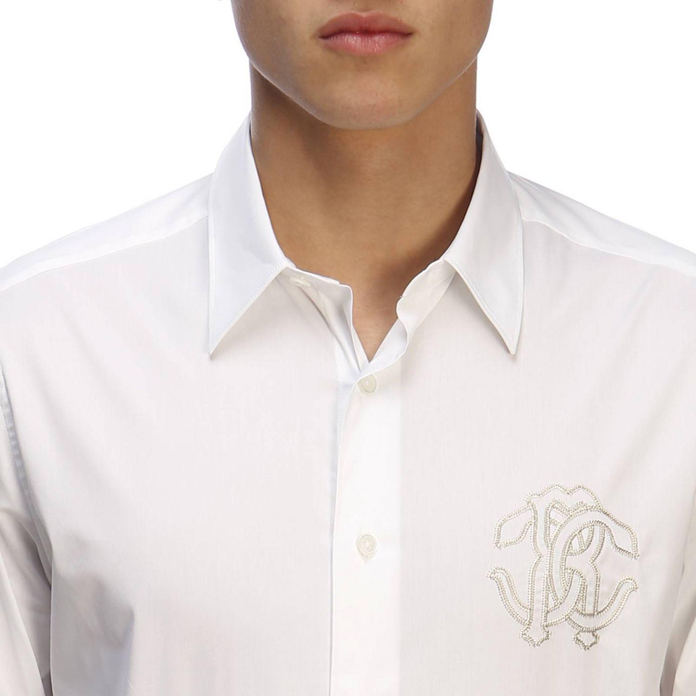 衬衫 男士 Roberto Cavalli 白色 4