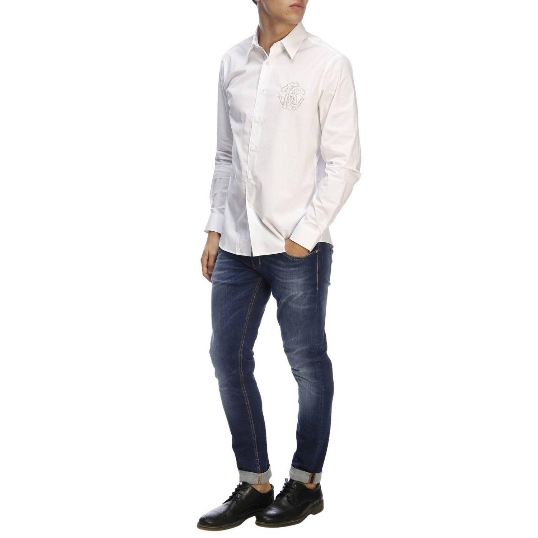 衬衫 男士 Roberto Cavalli 白色 5