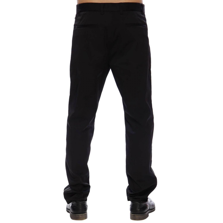 Pantalone regular fit a vita bassa con zip laterali e tasche america nero 3