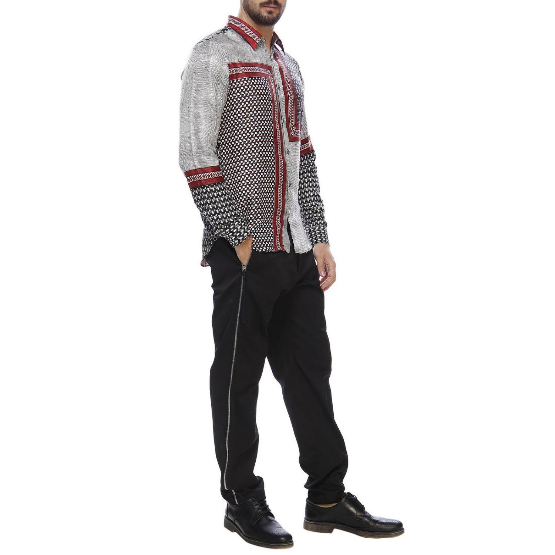Pantalone regular fit a vita bassa con zip laterali e tasche america nero 4