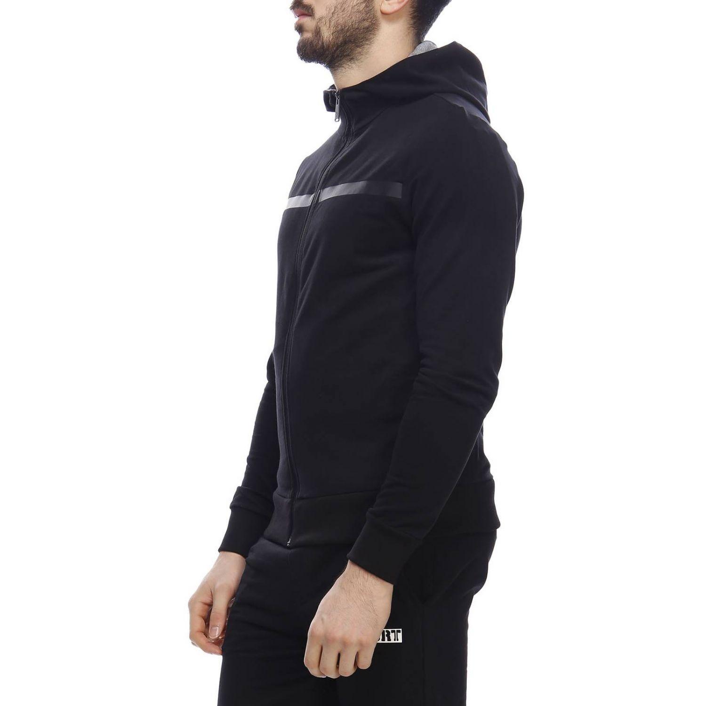 Felpa con zip e cappuccio con maxi stampa logo Plein Sport posteriore nero 2
