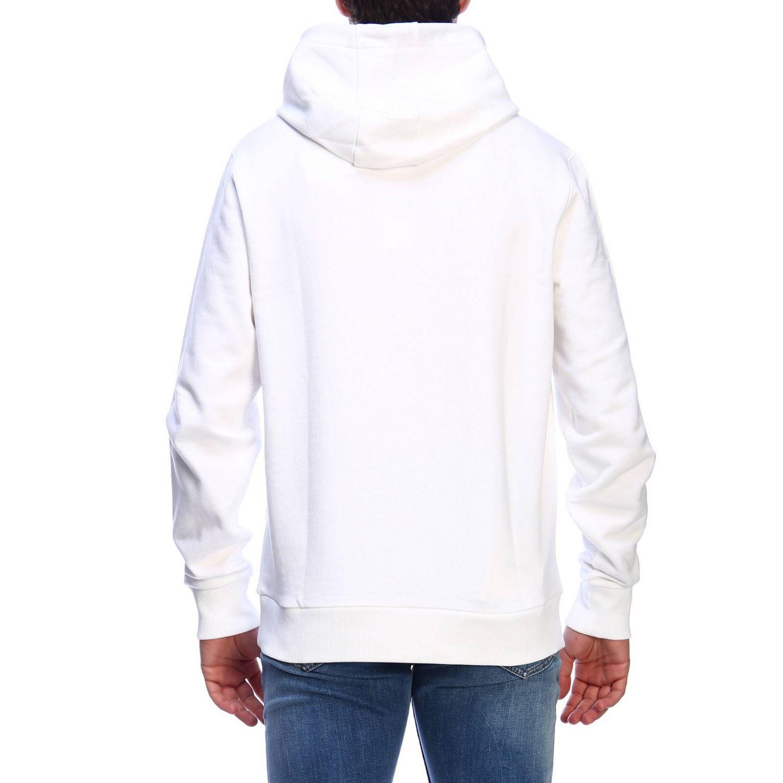 Felpa a maniche lunghe con cappuccio e stampa by Calvin Klein bianco 3