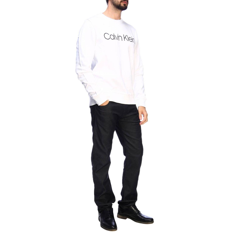 Pull homme Calvin Klein blanc 4