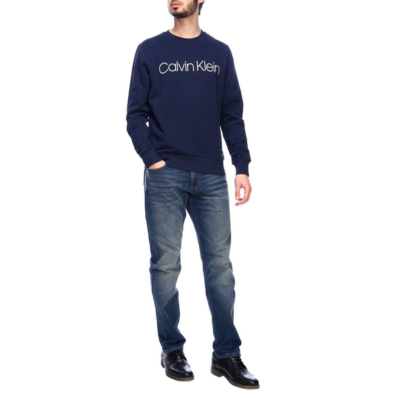 Pull homme Calvin Klein bleu 4