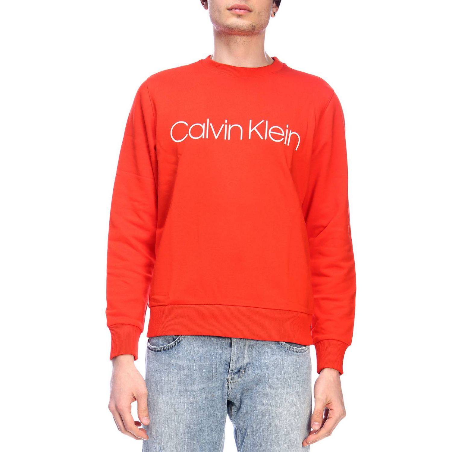 Pull homme Calvin Klein rouge 1