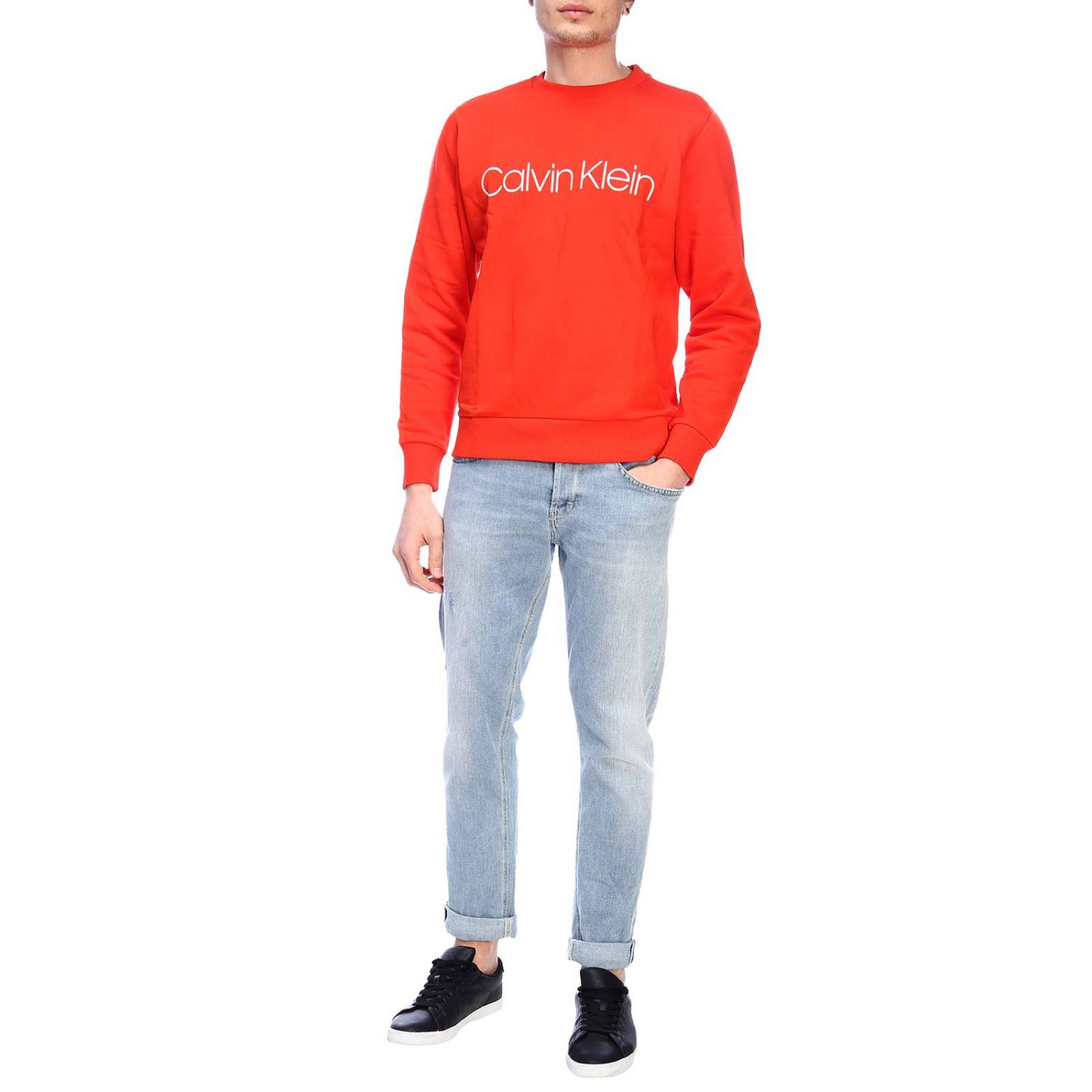 Pull homme Calvin Klein rouge 4