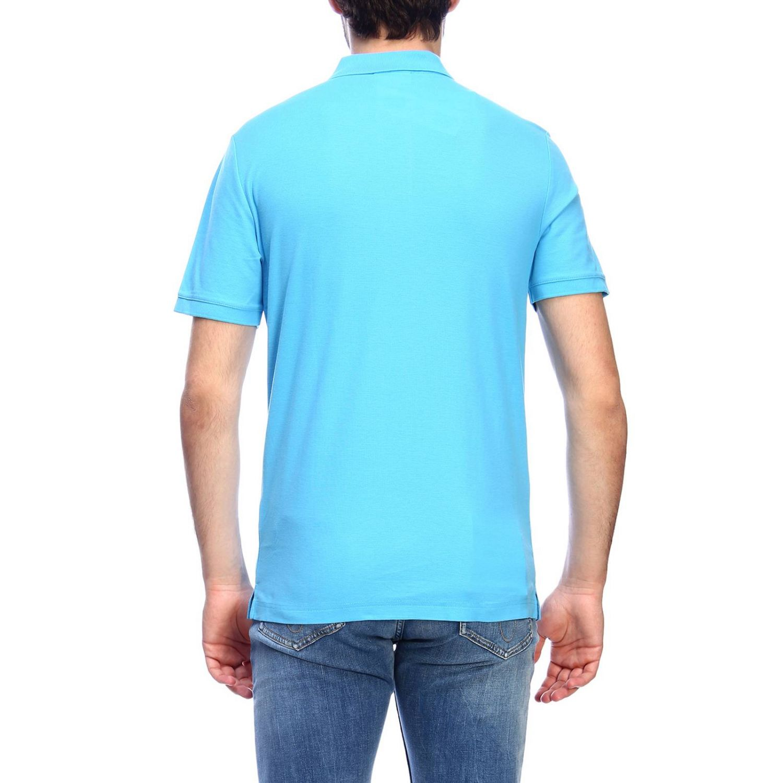 Polo Calvin Klein con mini logo azzurro 3