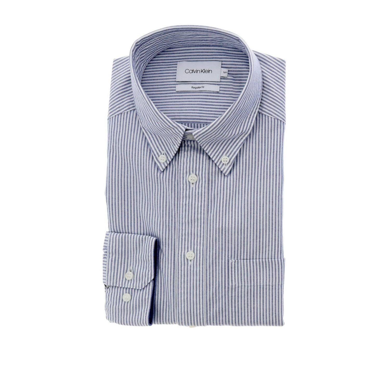 Shirt men Calvin Klein gnawed blue 1