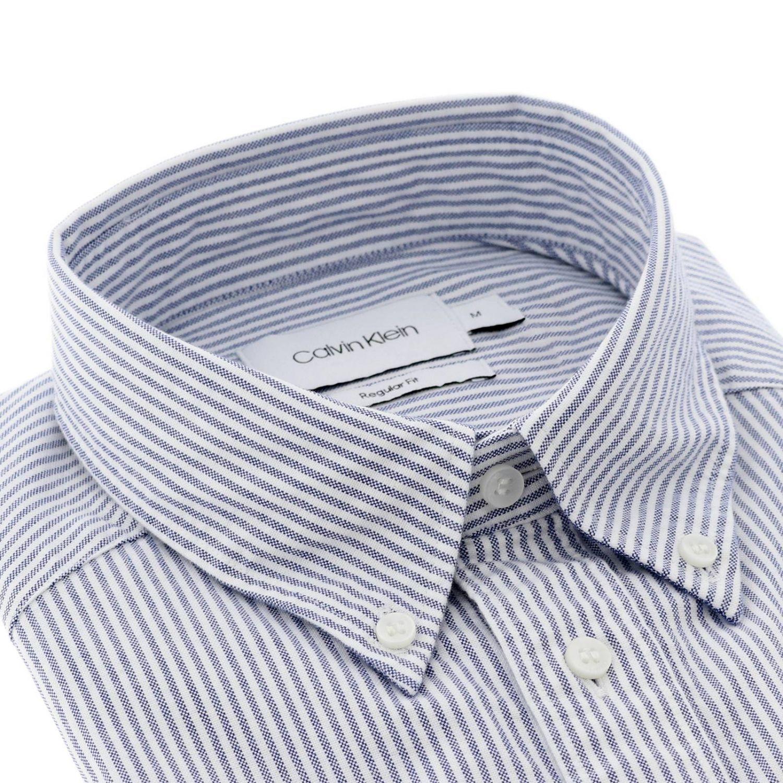 Shirt men Calvin Klein gnawed blue 2