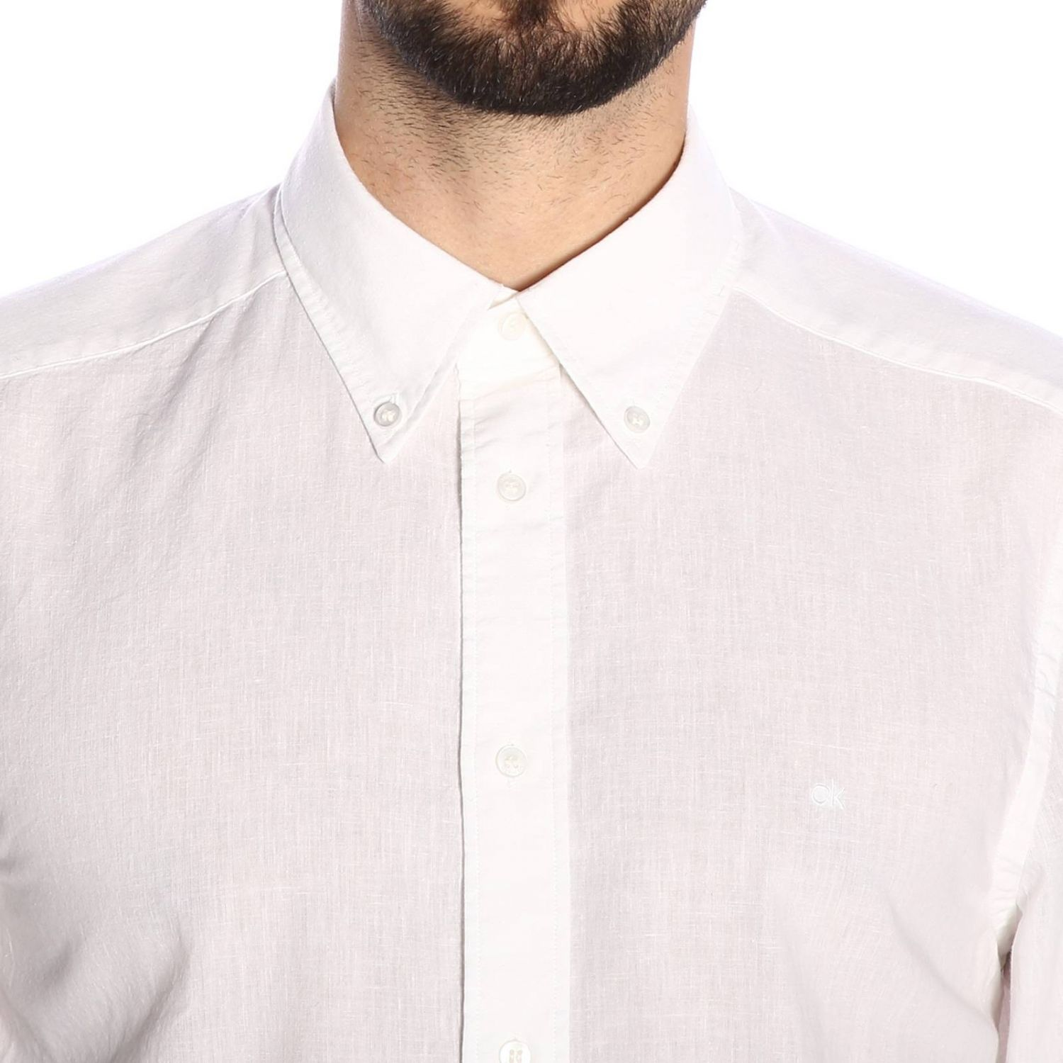 Shirt men Calvin Klein white 4