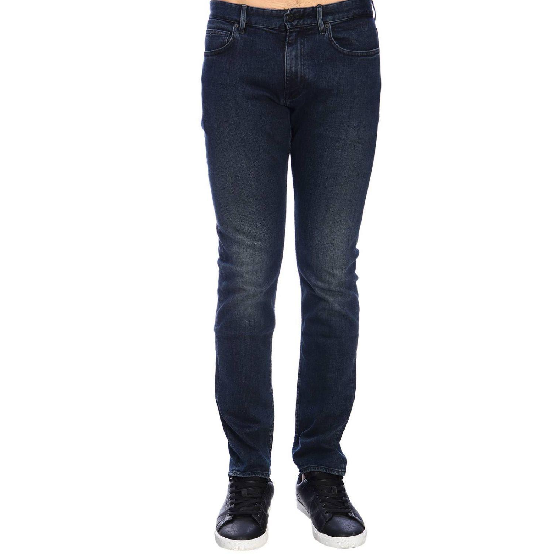 Jeans Clavin Klein Jeans in denim stretch slim nero 1