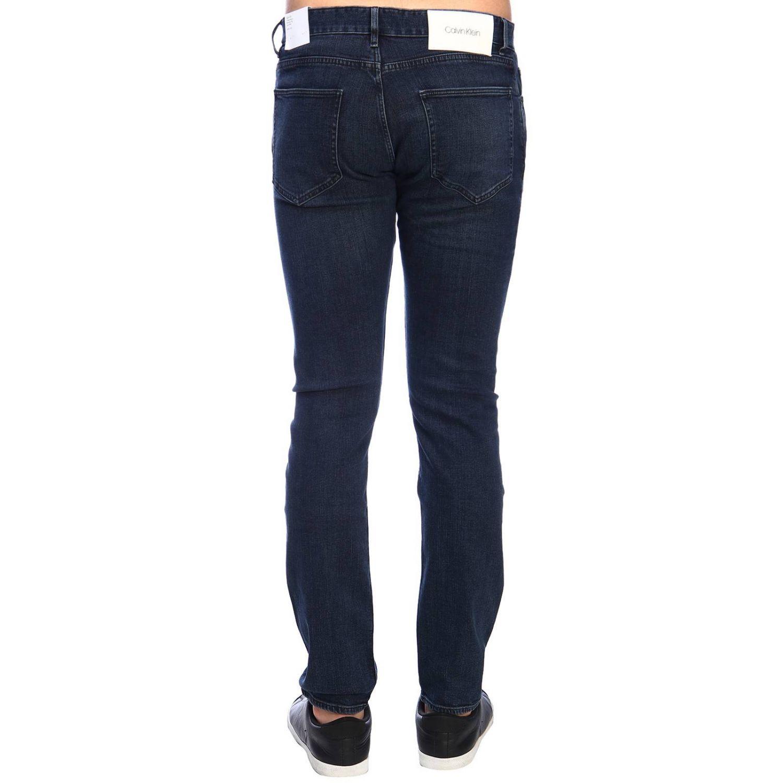 Jeans Clavin Klein Jeans in denim stretch slim nero 3