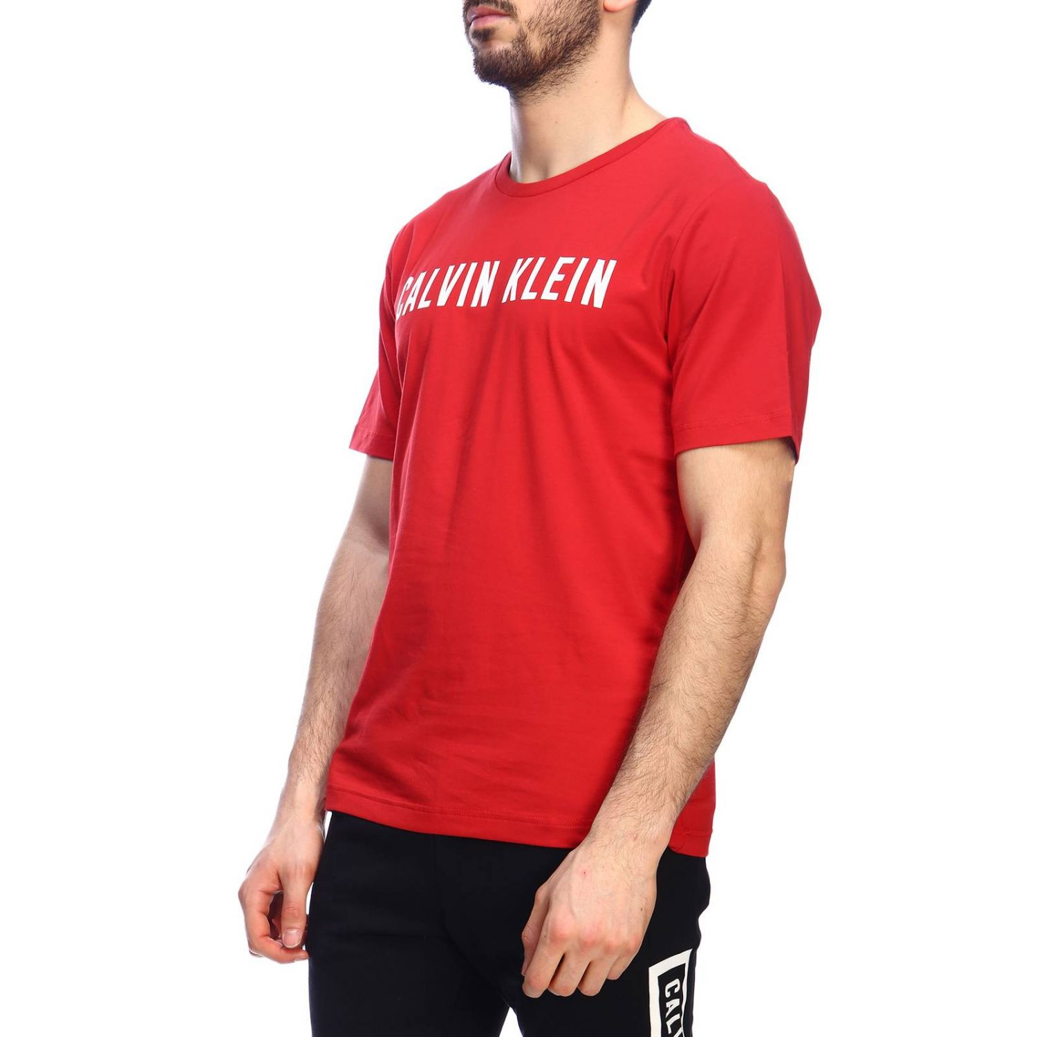 T-shirt men Calvin Klein Performance red 2