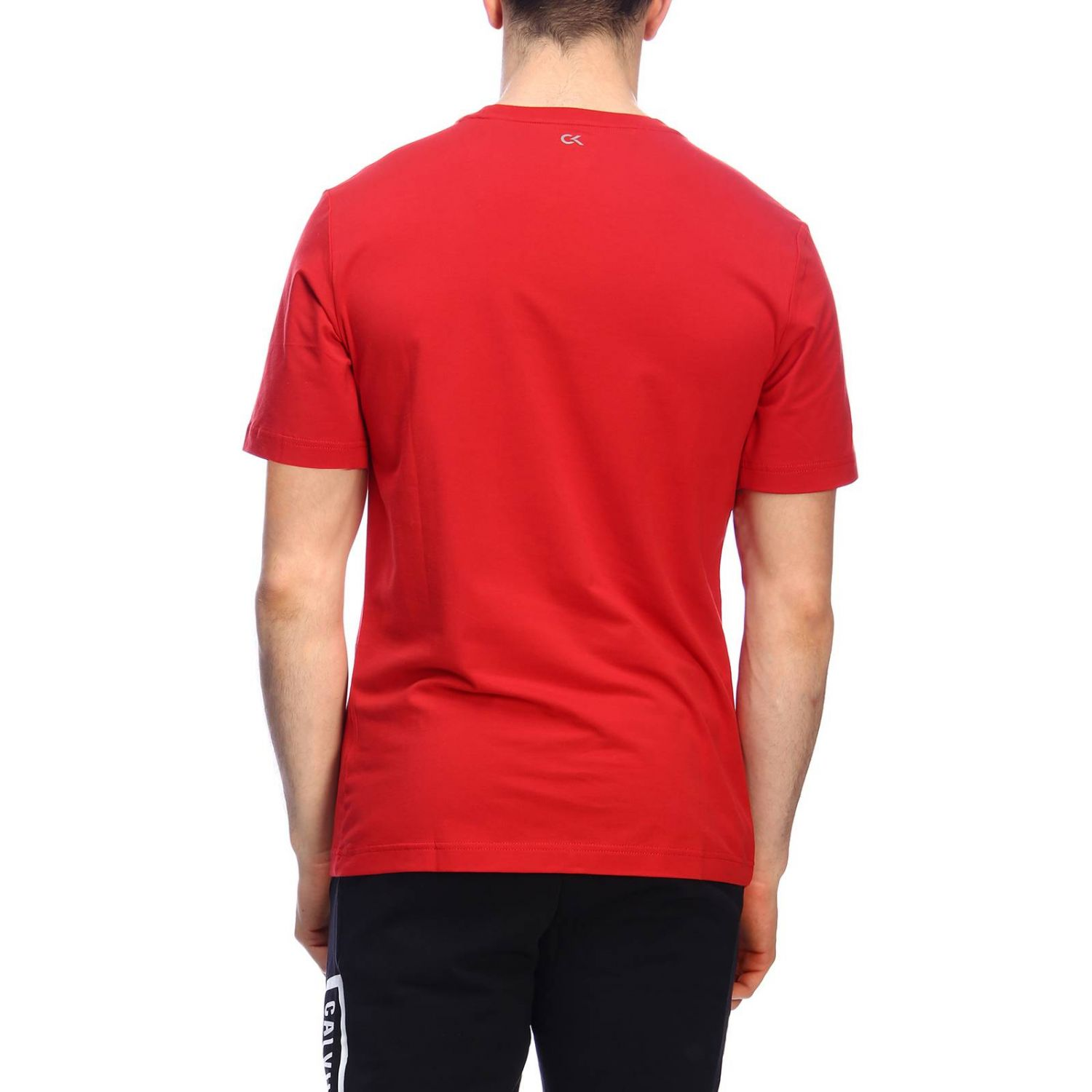 T-shirt men Calvin Klein Performance red 3