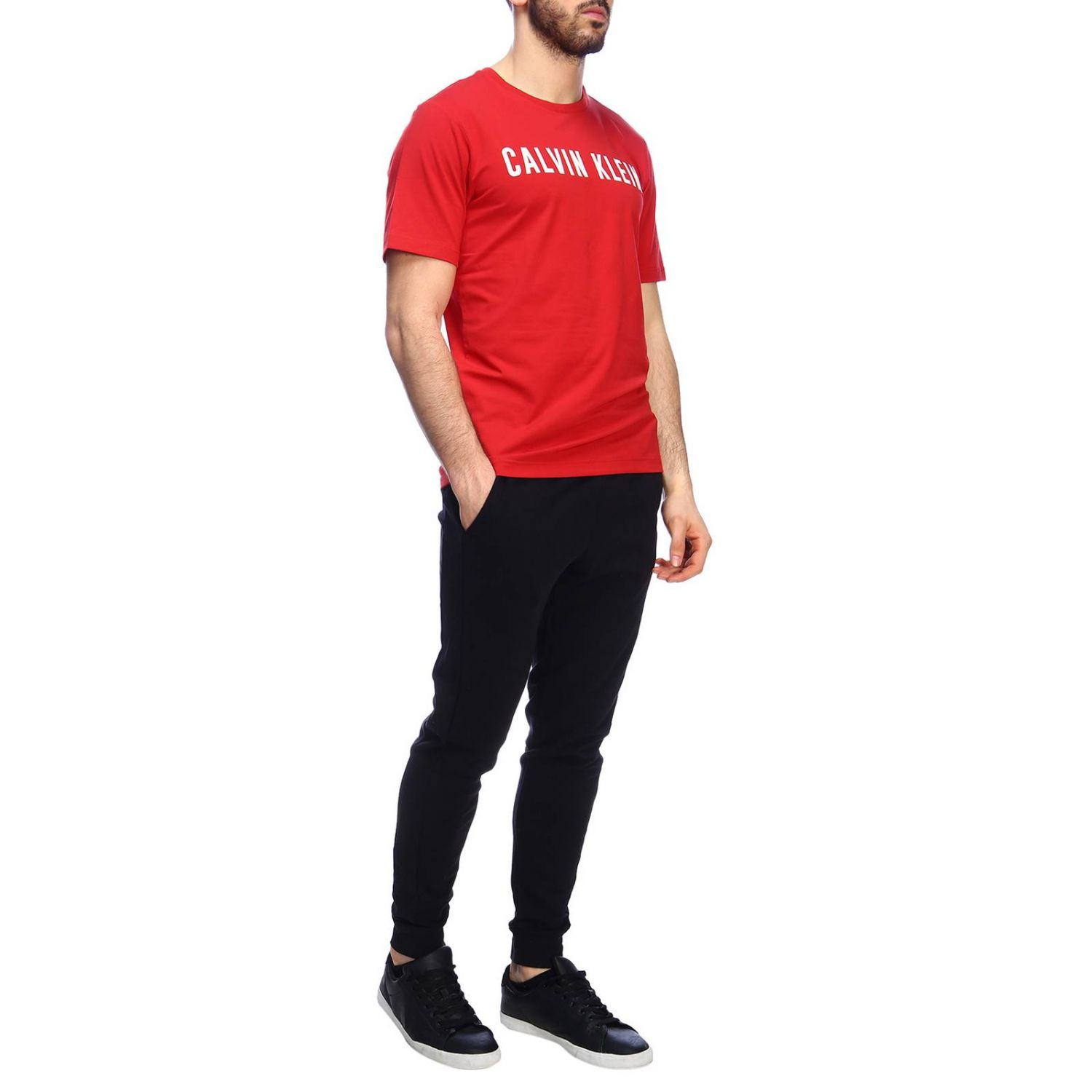 T-shirt men Calvin Klein Performance red 4