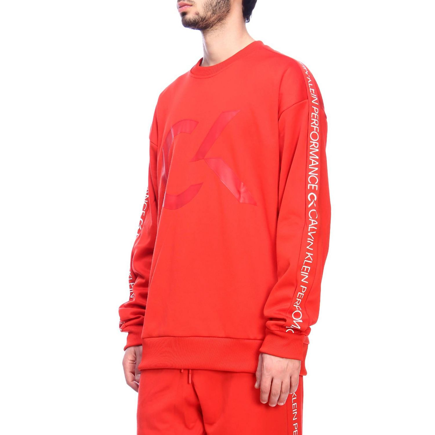 Pull homme Calvin Klein Performance rouge 2