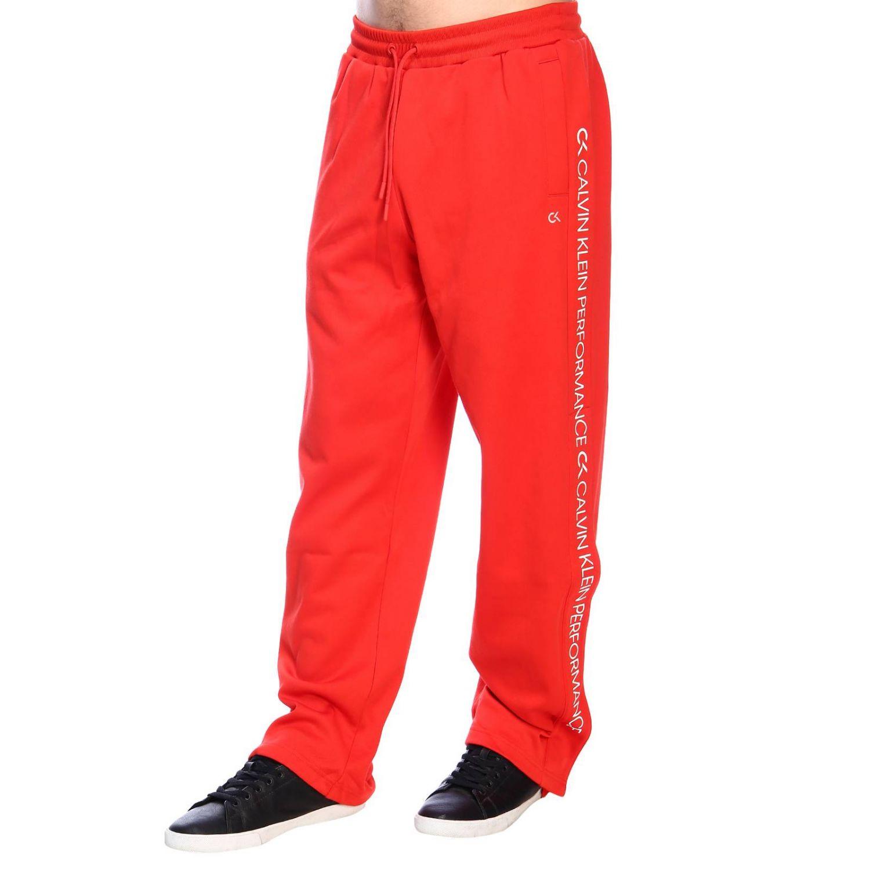 Pants men Calvin Klein Performance red 2
