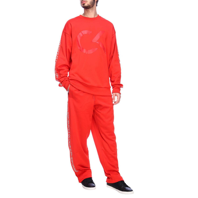 Pants men Calvin Klein Performance red 4