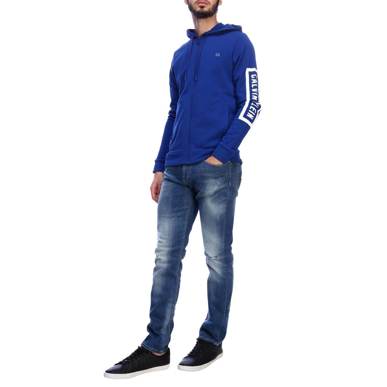 Sweater men Calvin Klein Performance blue 5