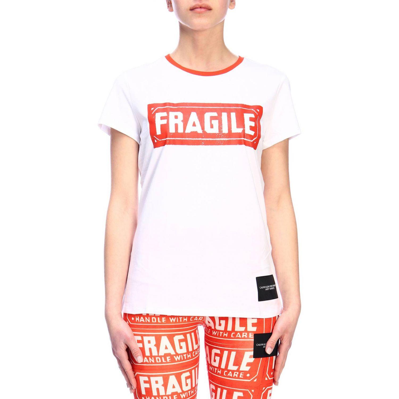 T-shirt women Calvin Klein Performance white 1