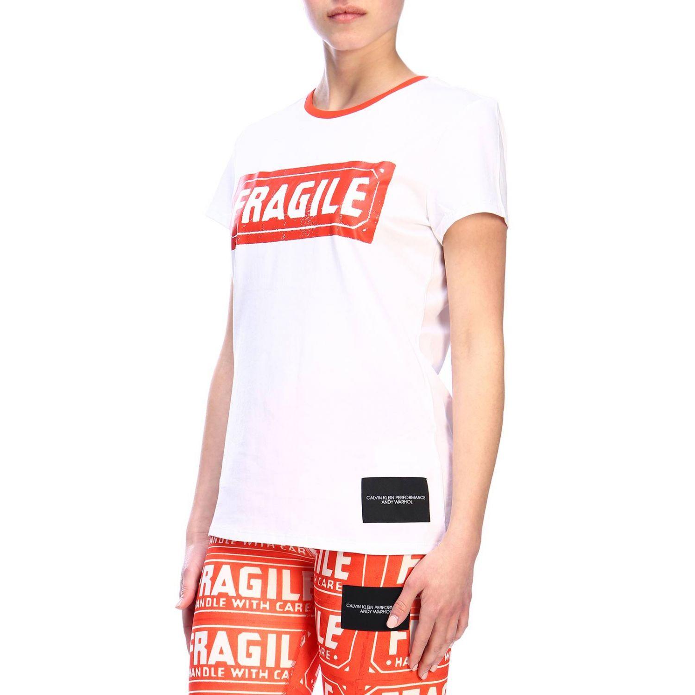 T-shirt women Calvin Klein Performance white 2