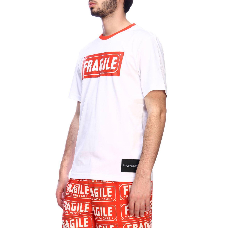 T-shirt men Calvin Klein Performance white 2