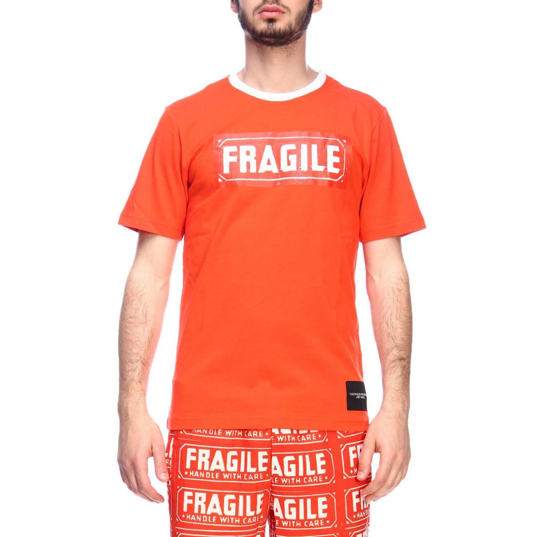 T-shirt men Calvin Klein Performance orange 1